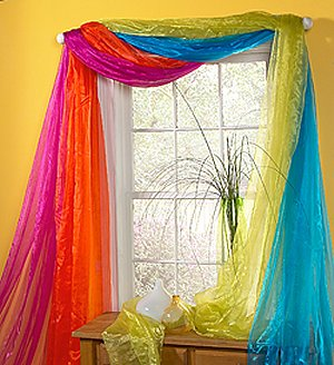 rainbow window decorations-rainbow bedrooms-rainbow themed